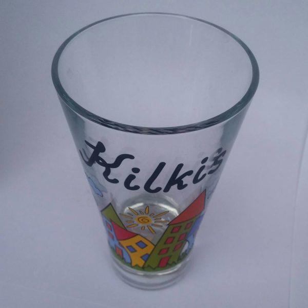 Ούζο-πότηρο  .. διαφανές γυαλί  ..   Σπιτάκια Kilkis