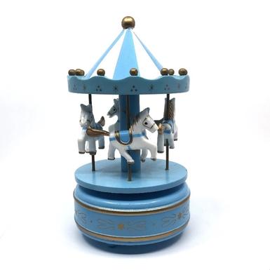 Διακοσμητικά μουσικά Καρουζέλ γαλάζιο
